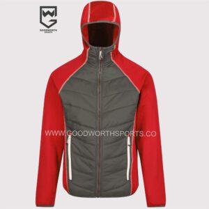 hybrid hooded trucker jacket